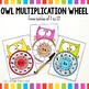 Owl Multiplication Wheel