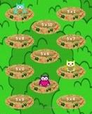 Owl Multiplication x5 File Folder Game, Activity