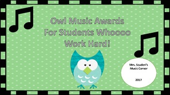 Owl Music Awards!