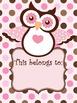 Owl Name Book Plates