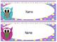 Owl Name Desk Tags