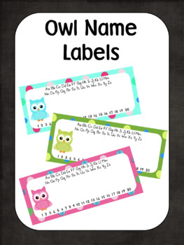 Owl Name Labels