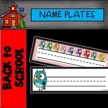 Editable Owl Name Plates