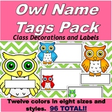 Owl Name Tag Pack