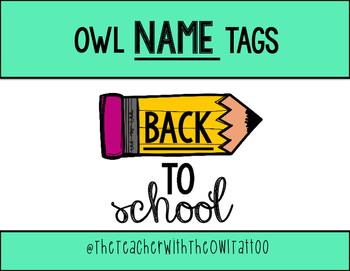 Free Owl Name Tags
