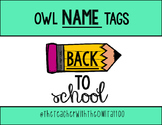 Free Owl Name Tags