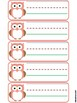 Owl Name Tags