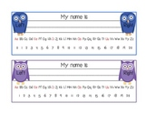Owl Name Tags {Desk Labels}