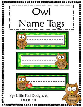Owl Name Tags - Printable Name Tags