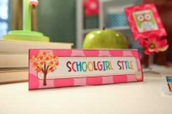 Owl Nameplate Classroom Decor
