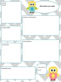 Owl Newsletter - Editable