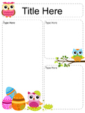 Owl Newsletter Templates - set of 12