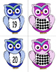 Owl Number Cards 0-20