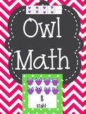Owl Number Cards 1-12 Plus Activities for Math Centers
