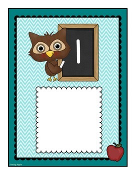 Owl Number Cards