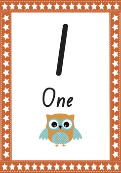 Owl Number Cards - NSW foundation font