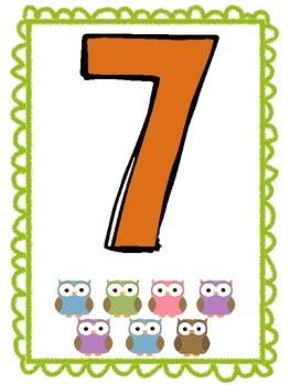 Owl Number Display 0-10