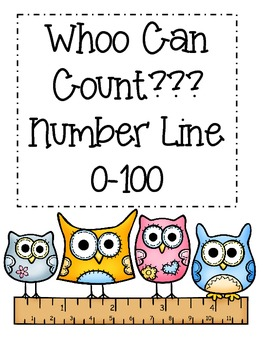 picture relating to Printable Number Line to 100 called Owl Amount Line 0-100