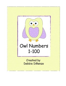 Owl Number Line 1-100