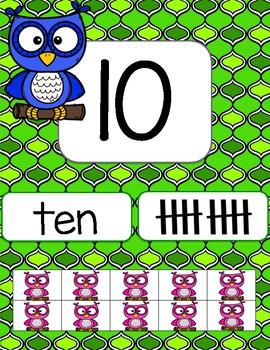 Owl Number Line 1-20