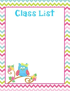 Owl Class List