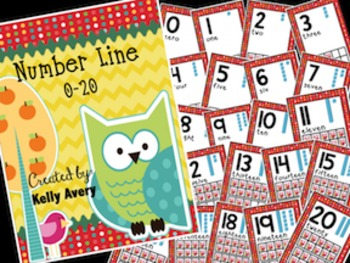 Math:  Owl Themed Number Line