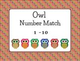 Owl Number Match 1-10