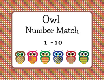 Owl Number Match 1-10