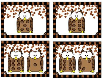 Owl Number Match Up