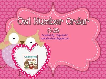 Owl Number Order 0-25