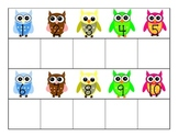 Owl Number Picture Match
