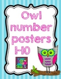 Owl Number Posters 1-10