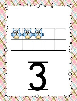 Owl Number Posters 1-20