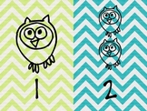 Owl Number Posters 1 through 10