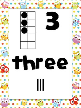 Owl Number Posters {Common Core Math} Hoot Bird
