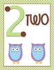 Owl Number Posters- Touch Dot Numbers