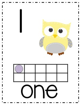 Owl Number Posters with ten frames