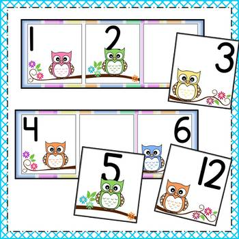 Owl Number Sequencing - Math Center Activity