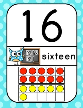 Owl Number Posters 0-30