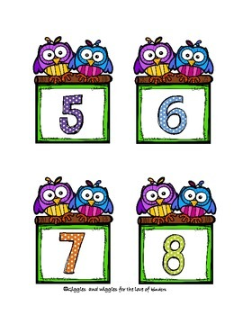 Owl Numbered Labels