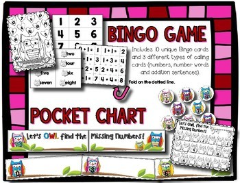 Valentine's Numbers 1-20 --- BINGO, Clip Cards, Pocket Chart & Count The Room