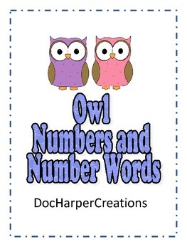 Owl Numbers and Number Words Match