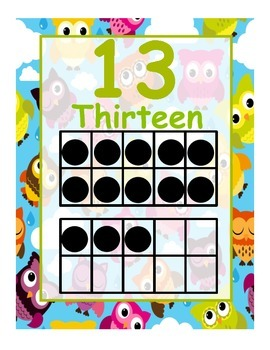 Owl Numbers Posters
