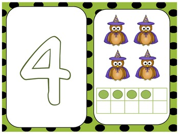 Owl-O-Ween Numbers Play Dough Mats