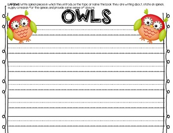 Owl Opinion Writing Paper