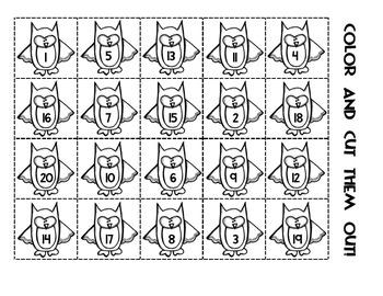 """""""Owl"""" Ordering Numbers Activity [FREEBIE!]"""