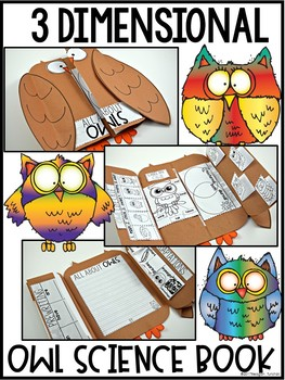 Owl & Other Nocturnal Animals Science Interactive Activities