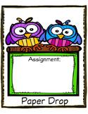 Owl Paper Drop Cover Sheet