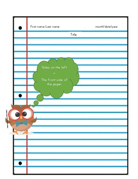 Owl Paper Heading Poster