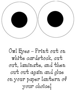 Owl Paper Lanterns